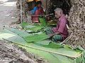 A Banana leaf stall.JPG