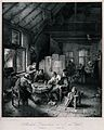 A Dutch country tavern with six men drinking and smoking at Wellcome V0019596.jpg