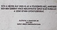 A Szent István patika emléktáblája (2007), Árpád út 44-46, 2018 Újpest.jpg