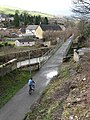 A cyclist on the Black Path - geograph.org.uk - 719987.jpg