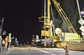 A jet-grout drill crosses Sacramentos Watt Avenue bridge (9578944094).jpg