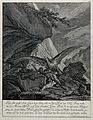 A mountain landscape with a vulture hovering over its prey, Wellcome V0020984.jpg