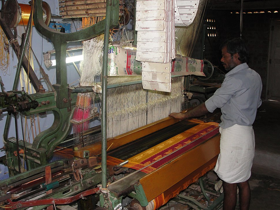 A photo on power loom