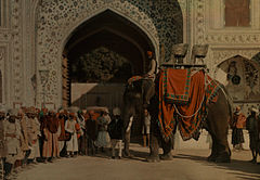 A state elephant owned by the Maharaja of Jaipur by Jules Gervais-Courtellemont.jpg