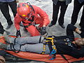 A symbolic maneuver to save a damaged person from height in Nishapur 01.jpg