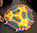 A symmetrical pattern block design created by eight year olds.jpg
