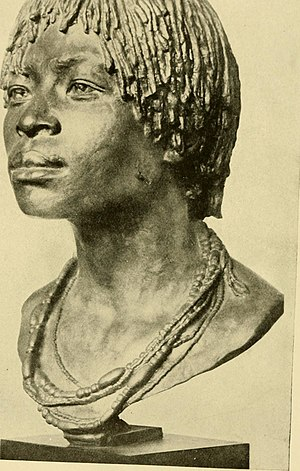 Kongo people - A Kongo woman's cast from 1910