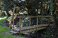 Abbess Roding bridge over roadside stream for public footpath from north - Essex England.jpg