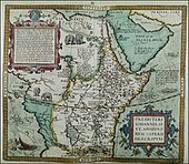 Map of Ethiopia from 1584 by Abraham Ortelius.