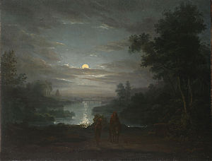 Abraham Pether - Rest on the flight into Egypt