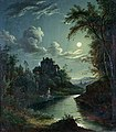 Abraham Pether A Landscape and River Scene.jpg