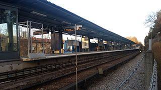 Abrahamsberg metro station Stockholm Metro station