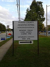 Early voting - Wikipedia