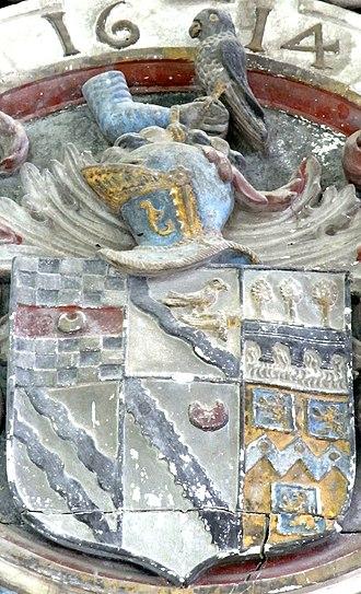 John Acland (died 1620) - Acland's Heraldic achievement
