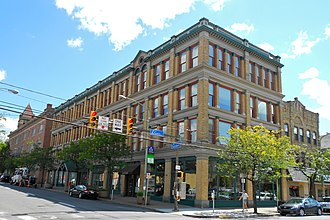 National Register of Historic Places listings in Lackawanna County, Pennsylvania - Image: Ad Lin bldg Scranton PA