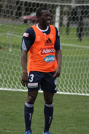 Adama Traoré (Ivorian footballer) - Adama Traoré training with Melbourne Victory FC in 2013.