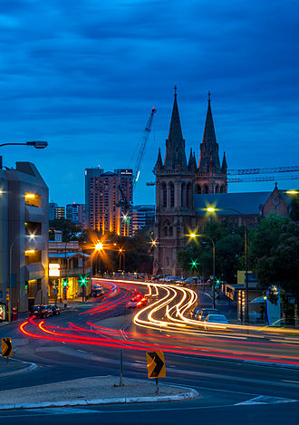 North Adelaide - King William Road at night