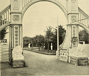 Sutro Heights Park - Entrance to Sutro Heights gardens (1895).