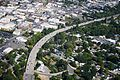 Aerial view of I-5 traffic traveling over the Medford Viaduct (21450626945).jpg