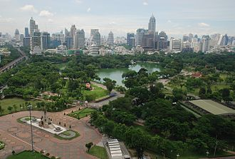 Central Thailand - Image: Aerial view of Lumphini Park