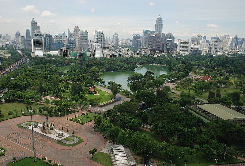 Archivo:Aerial view of Lumphini Park.jpg