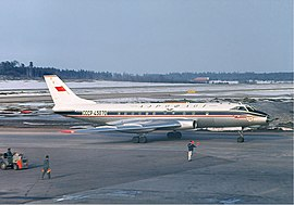 Aeroflot Tupolev Tu-124 at Arlanda, April 1966.jpg