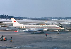 1963 Aeroflot Tupolev Tu-124 Neva river ditching - A Tu-124 similar to the accident aircraft