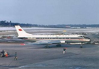 Tupolev Tu-124 - Aeroflot Tu-124 at Arlanda Airport in 1966