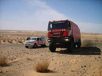Africa Eco Race - Passage of Jan de Rooy's truck through the Tijirit zone of Mauritania during the 2009 Africa Race.