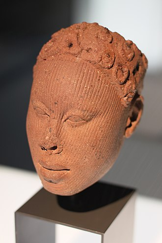 Ife - Terracotta head from Ife, probably a king, 12th to 15th Century C.E., in the Ethnological Museum of Berlin.
