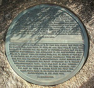 Plaque showing two quotations from poets writi...