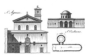 Sant'Agnese fuori le mura - plan and elevation