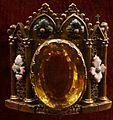 Agraphe de chappe 1824 argent doré topaze émail 08278.JPG