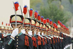"""Academia Militar das Agulhas Negras - AMAN Cadets during the """"Small Sword"""" ceremony."""