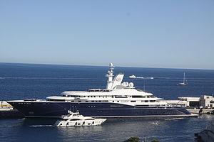 Al Mirqab (yacht) - Image: Al Mirqab Monaco 2009