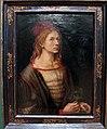 Albrecht dürer, autoritratto con fiore d'eringio, 1493, 01.JPG