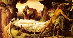 Frederic Leighton, 1st Baron Leighton: Hercules Fighting Death to Save Alcestis