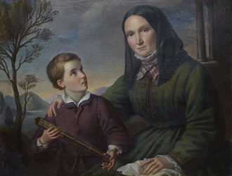 Alexander von Humboldt - Humboldt as a boy with his widowed mother, Maria Elisabeth (Colomb) von Humboldt