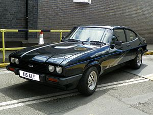 Alfie Moon - Alfie Moon's Ford Capri, on display at the EastEnders Meet and Greet event.