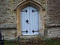 All Saints' Church, Kington Magna - Door - geograph.org.uk - 475316.jpg