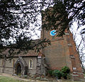 All Saints Church at Epping Upland - tower from north-west.jpg