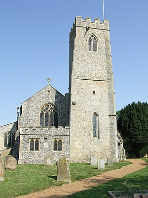 Narborough, Norfolk - Image: All Saints Narborough geograph.org.uk 417486