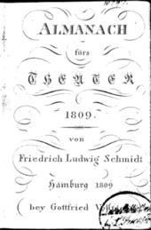 Deckblatt Almanach von 1809 (Quelle: Wikimedia)
