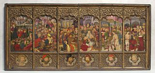 Altarpiece (retablo) with Scenes from the Passion
