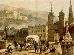Alte Bruecke Heidelberg von Konrad Linck 1788
