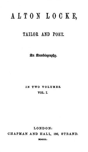 Alton Locke - First edition title page
