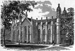 Gore Hall (Harvard College library) - 1879 woodcut from The American Cyclopædia