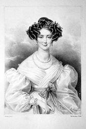Amalie Haizinger, Lithographie von Josef Kriehuber, um 1830 (Quelle: Wikimedia)