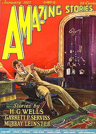 "Alpheus Hyatt Verrill - Verrill's novelette ""The Man Who Could Vanish"" took the cover of the January 1927 Amazing Stories."