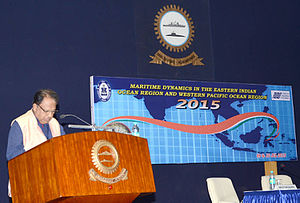 Ambassador TP Sreenivasan (Retd) delivering the valedictory address at the seminar on Regional Maritime Dynamics.jpg